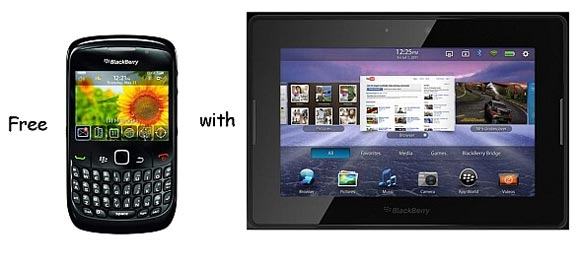 BlackBerry Curve 8520 and PlayBook tablet