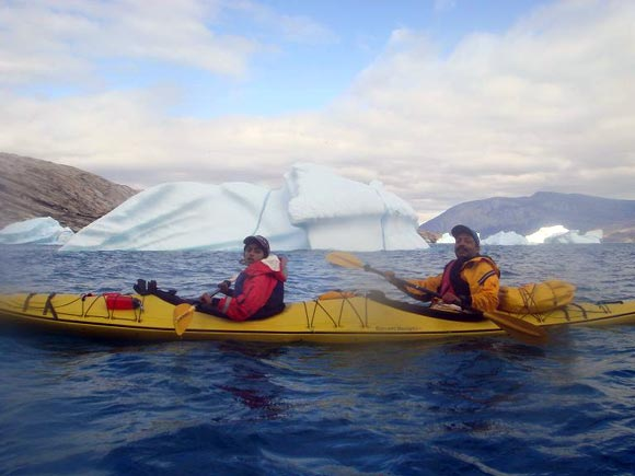 Deeya Bajaj kayaking in Greenland