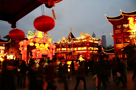 Illumination of Yuyuan Garden, Shanghai