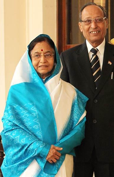 President Pratibha Patil and Devisingh Ramsingh Shekhawat