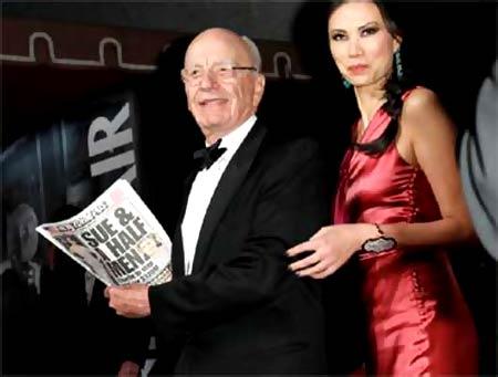Wendi Deng Murdoch and Rupert Murdoch