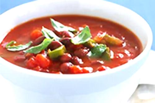Kidney Beans and Capsicum Soup
