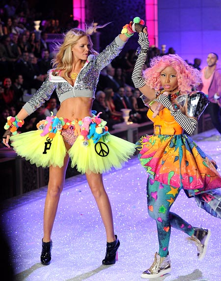 Erin Heatherton and Nicki Minaj for Victoria's Secret