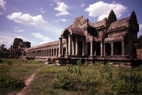 The ruins and temples around Angkor Wat in Cambodia