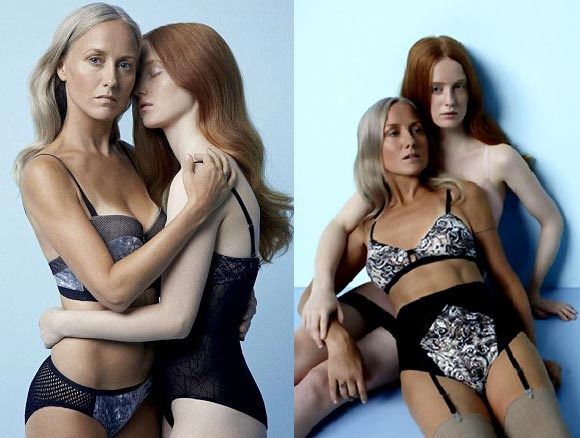 The Lake And Stars lingerie ad campaign