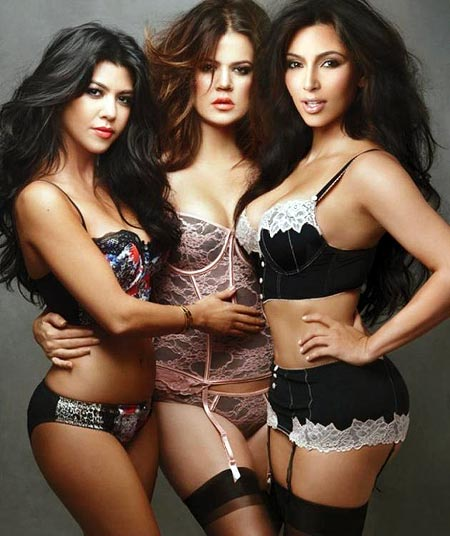 Kim, Khloe and Kourtney Kardashian for the Kardashian Kollection