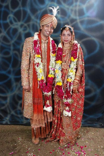 Gaurav Jain with his wife
