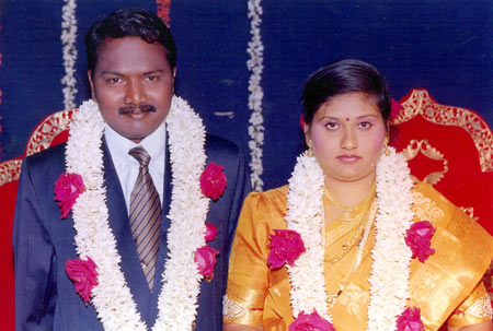 Manjunath Swamy with Rajeswari