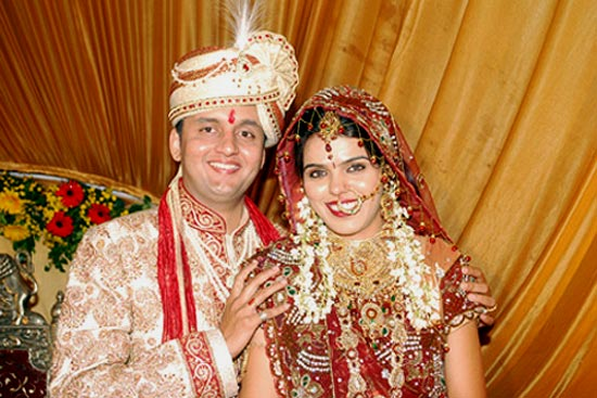 Himanshu Bhatnagar with his wife, Nidhi