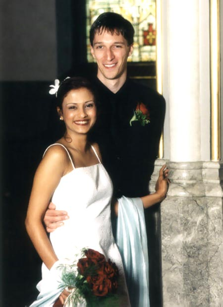 Cheryllyne Vaz and Andy Harwood