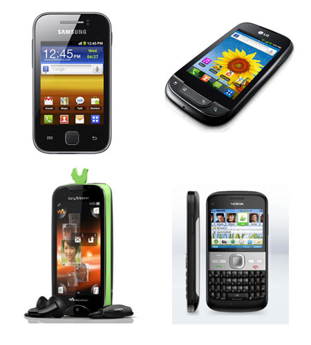 A collage of top mobile phones under Rs 10,000