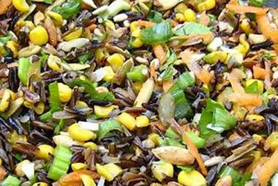 Roasted corn and rice salad