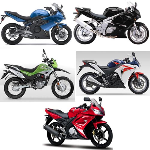 A collage of top five performance bikes launched in 2011