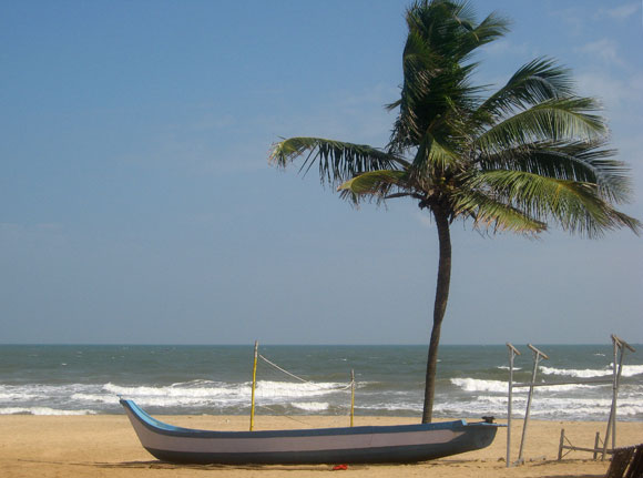 A view of Coromandel Coast is seen near the city of Chennai.