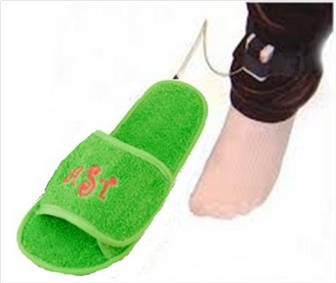 Prototype of the Green Walk Slippers