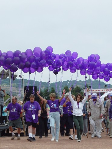 Join a walking events such as Relay for Life