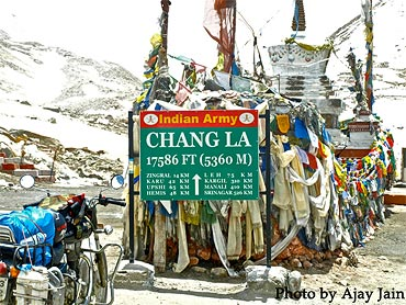 ChangLa is the second highest pass at 17,586 feet