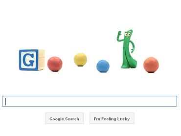 Google doodle for Art Clokey