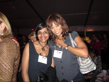 Stuti Jalan with model Tyra Banks