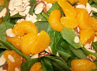 Almonds and oranges