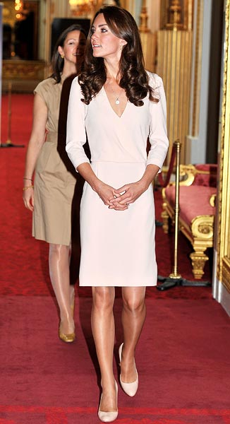 Catherine, Duchess of Cambridge views the exhibitions for the summer opening of Buckingham Palace on July 22, 2011 in London, England