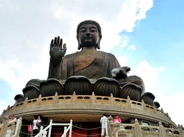 Tian Tan Buddha statue in Lantau Island