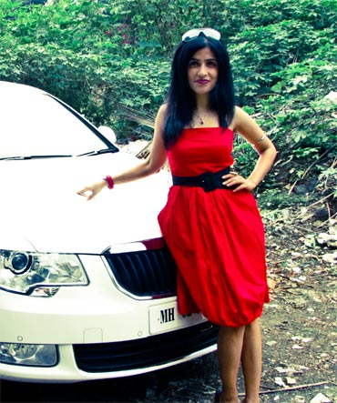 Shibani Kashyap with her new car
