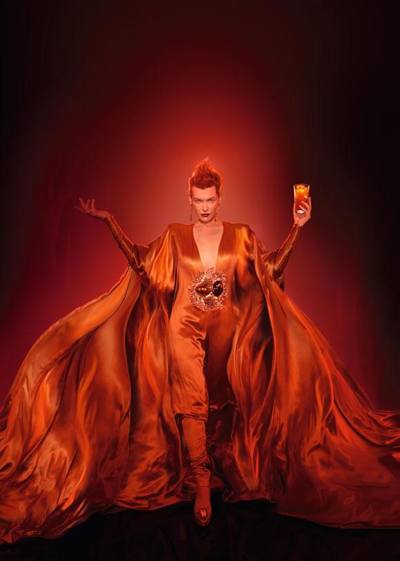 Milla Jovovich for Campari