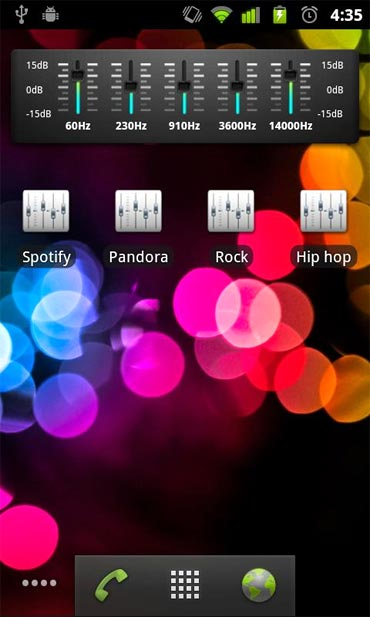 The default music player along with radio deliver decent performance