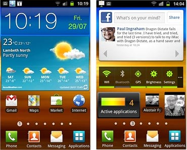 S II comes integrated with Social, Game and Reader's hub
