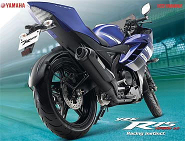 PIX: The spanking new Yamaha R15