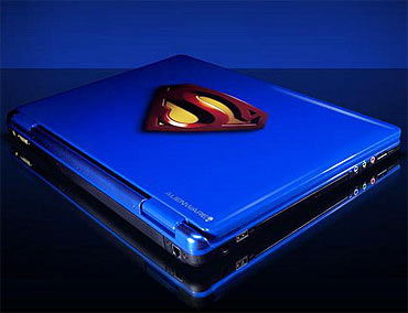 Alienware and Superman computers