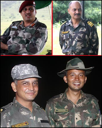Top: Limaye, Pawsey. Bottom: (L-R) Kothiyal and Chaudhry