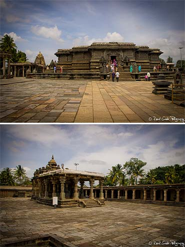 Belur and Halebidu are two towns that were part of Hoysala Empire