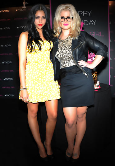 Lourdes Leon with Kelly Osbourne at the Material Girl first anniversary celebration