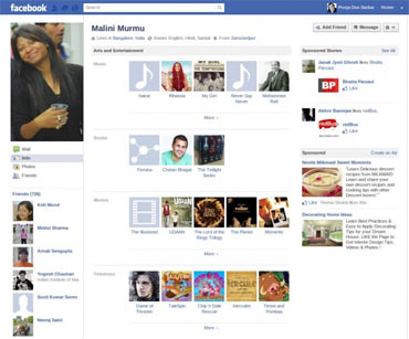 A snapshot of Malini Murmu's Facebook page