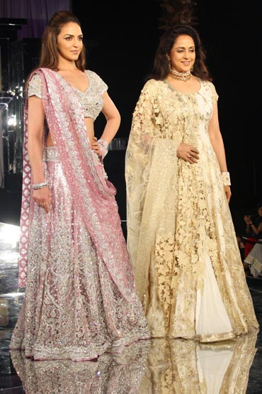 Esha Deol and Hema Malini for Neeta Lulla