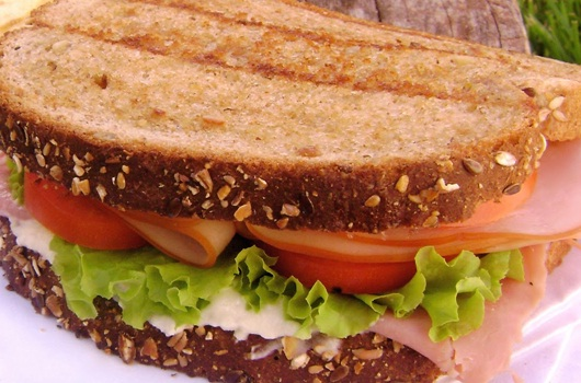 Lean turkey sandwich