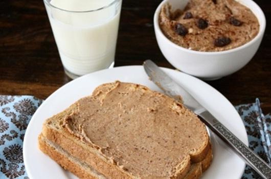 Almond butter on multigrain bread