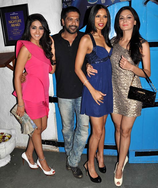 Rocky S (second from left), Candice Pinto (second from right) and Aanchal Kumar (extreme right) with a friend