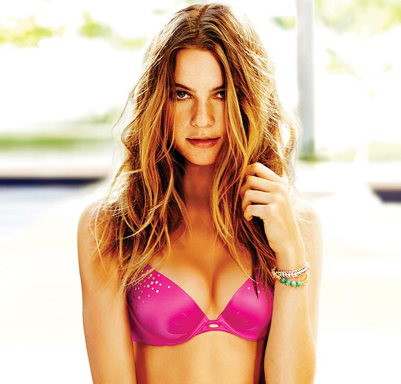 Behati Prinsloo models the Victoria's Secret Fabulous Bra