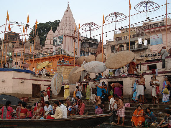 On the banks of The Ganges in Varanasi or Kashi