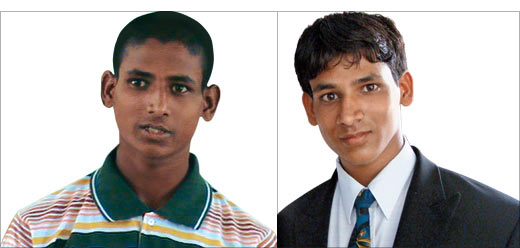 (Left) Ramesh when he was a cowherd and (right) now, as an inspiring young professional