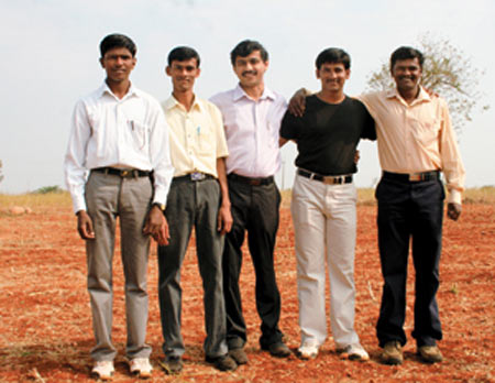 Ramesh with his group of friends