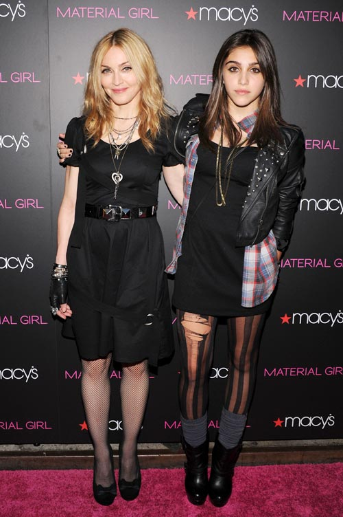 Madonna and daughter Lourdes Leon attend the Material Girl collection launch at Macy's Herald Square on September 22, 2010 in New York City