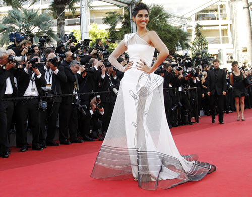 Sonam Kapoor at the 64th Cannes Film Festival, May 15, 2011