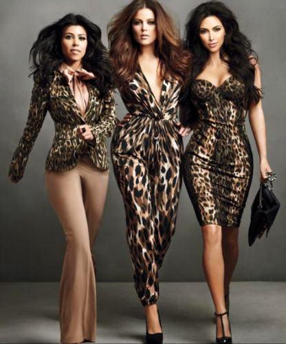 Kourtney, Khloe and Kim Kardashian wear designs from the Kardashian Kollection at Sears