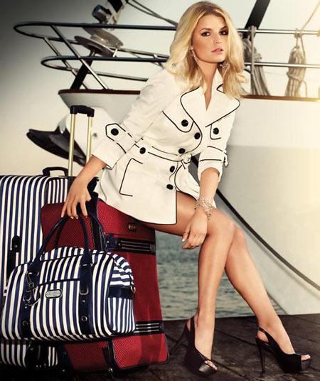 Jessica Simpson wearing her own designs from the Jessica Simpson Collection