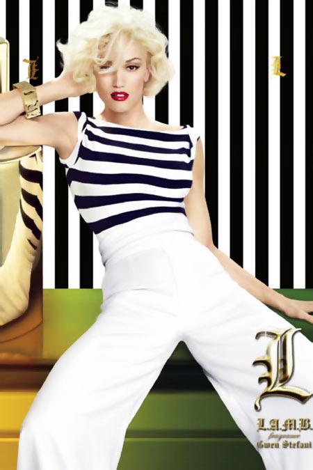 Gwen Stefani in a L.A.M.B. creation