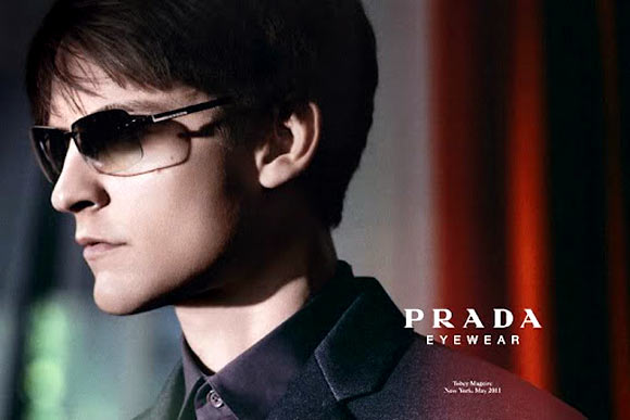 A pair of Gradient lens glares from Prada